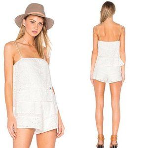 Lovers and Friends Kayla White Eyelet Romper XS